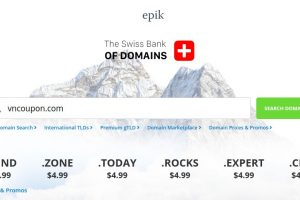 Epik Coupon & Promo Codes on May 2021 – Domain Registration from $0.99 for first year – Transfer .COM only $8.49