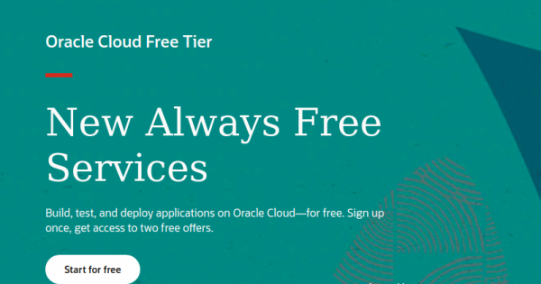 """Oracle Cloud Free Tier – The """"Always Free"""" services include Oracle Autonomous Database, Compute VMs, Object Storage + $300 in free credits."""