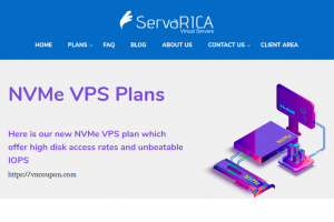 ServaRICA – 6GB RAM & 80GB NVMe VPS only $7/month