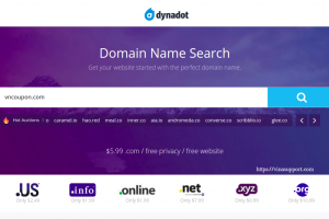 Dynadot Coupon & Promo Codes on December 2019 – Get a .COM for only $5.99, now with free privacy!
