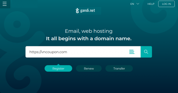 Gandi Huge Sale – .COM Domain only $1 for first year