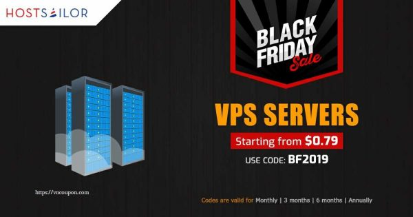[Black Friday 2019] HostSailor Crazy Deals – Coupons & Promo Codes in 2019 – 60% off on all servers, SSD hosting, VPS