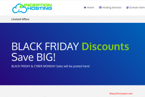 Inception Hosting Black Friday 2020 – UK/London KVM (NVMe) deals 50% off + extra disk + FREE DA