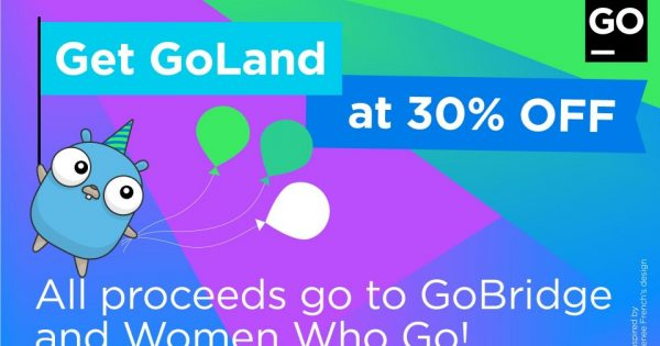 JetBrains – 30% Off GoLand IDE License, Support Women Who Go and GoBridge