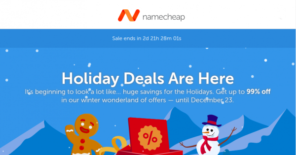 Namecheap Coupon & Promo Codes for January 2020 – Happy New Business Up to 98% off