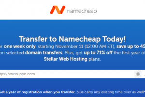 Namecheap Coupon & Promo Codes for November 2019 – Save up to 45% Domain Transfer