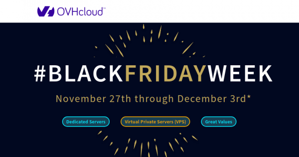 Black Friday 2019 Ovh Up To 50 Off Dedicated Servers