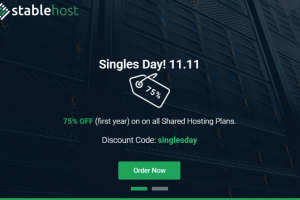 StableHost Coupon & Promo Codes in November 2019 – Singles Day 11.11 – 75% off on Web Hosting!