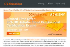 Alibaba Cloud – Get 50% off Professional Certification Exams