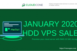 CloudCone Hourly Billed KVM Offers – Semi-Managed Cloud Servers from $17.5/Year