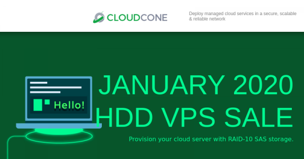CloudCone Hourly Billed KVM Offers – Semi-Managed Cloud Servers from $12.5/Year