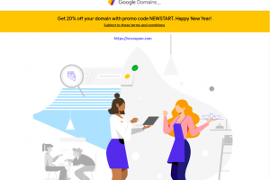[New Year 2020] Google Domains – 20% OFF for New Domain Registration