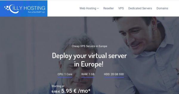 IllyHosting – 1GB RAM VPS only 1€/month (First Month)