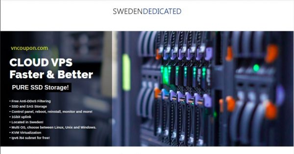 Sweden Dedicated – Promo KVM VPS only €2.5/month! Stockholm Location