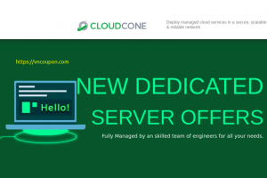 CloudCone – Premium Dedicated Server offers – 4 Cores clocked at 3.90 GHz with 32 GB RAM for $69 /Month
