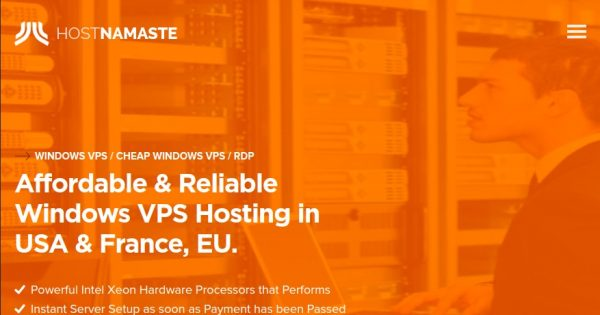 HostNamaste – Cheap Yearly Windows VPS Deals in 4 Locations