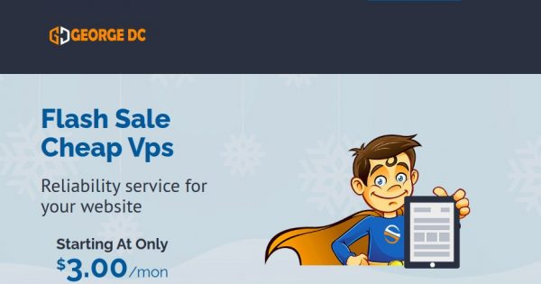 [Flash Sale] George Datacenter – Special VMware VPS from $7/month (2GB RAM) in 4 US Locations