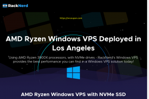 RackNerd – 30% OFF AMD Ryzen Windows VPS with NVMe SSD from $10.21/month