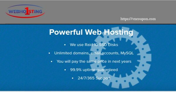 Webhosting1st – Shared Hosting from $10/Year – 30% OFF for first year
