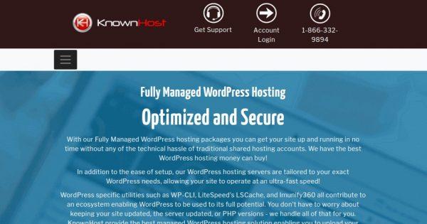 KnownHost – 50% OFF Fully Managed WordPress Hosting