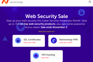[Web Security Sale] Namecheap – 71% on top web security products