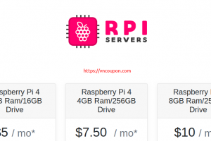 RPIServers – Raspberry Pi Hosting from $5/month – 4GB RAM/16GB Storage Drive