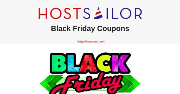 HostSailor Black Friday 2020 Coupons Upto 65% OFF