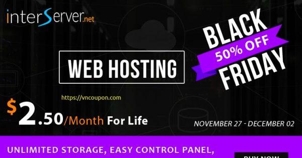 [Black Friday 2020] Interserver – 50% OFF Web Hosting