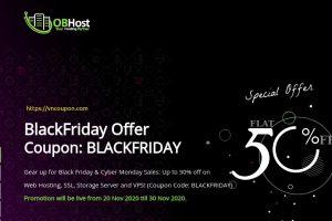[Black Friday 2020] OBHost – Flat 50% off on Web Hosting, SSL & VPS!