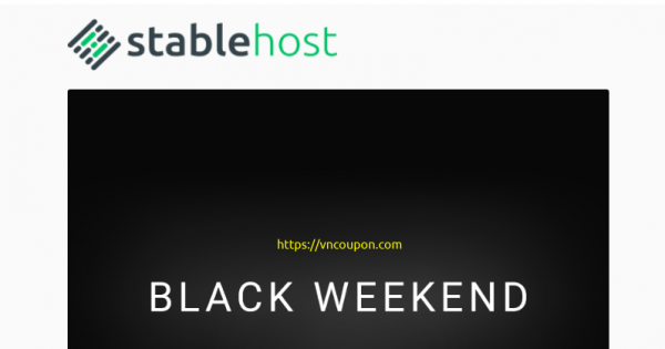 [Black Friday 2020] StableHost – 80% Off on all Shared Hosting Plans