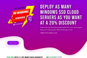[2021 Flash Sale] CloudCone – Exclusive Windows Cloud Servers Offers – 20% OFF in the first month!