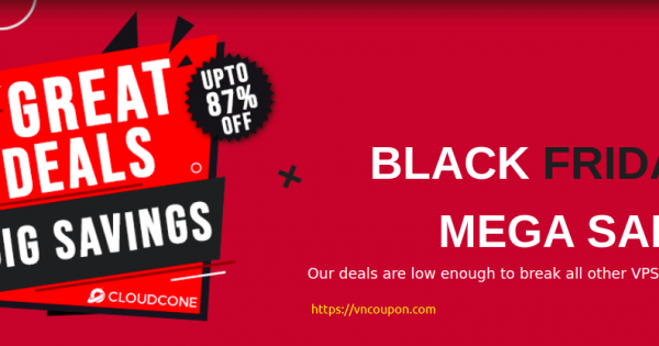 [Black Friday 2020] CloudCone – Mega Sale with up to 87% Off On All Products!