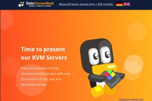 DeinServerHost – Budget IPv6 KVM NVMe VPS only 1€/month & 32GB RAM Dedicated Server Deal only 40€/month