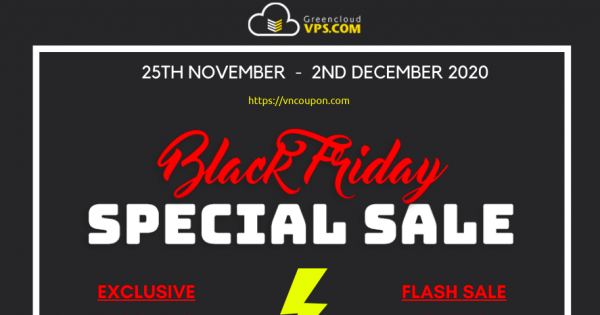 [Cyber Monday 2020] GreenCloudVPS – Up to 80% off recurring! NVMe VPS, Storage VPS from $30/Year, Windows VPS form $45/Year