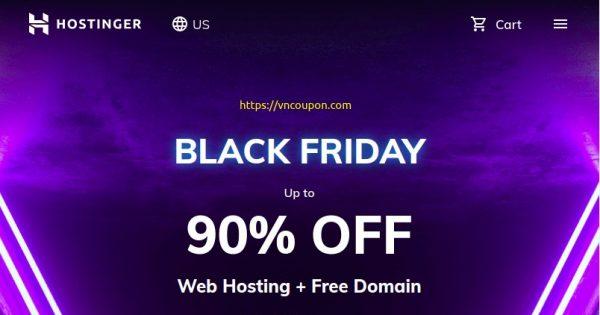 [Black Friday 2020] Hostinger – 90% OFF Web Hosting + Free Domain + Free SSL included + Google Ads Credit
