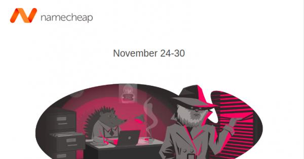 Namecheap Black Friday 2020 – Save off 99% Domain, Hosting