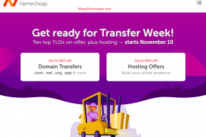 Namecheap Transfer Week Sale – Save up to 50% OFF Domains and up to 65% OFF on Hosting