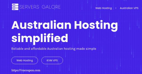 Servers Galore – 50% off Lifetime Web Hosting & KVM VPS in Melbourne, Sydney
