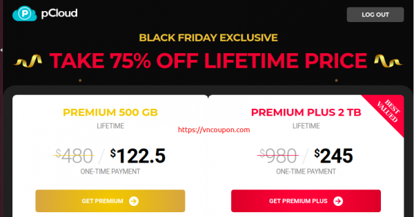 pCloud Black Friday 2020 Deals – 75% OFF Lifetime Cloud Storage from $122.5