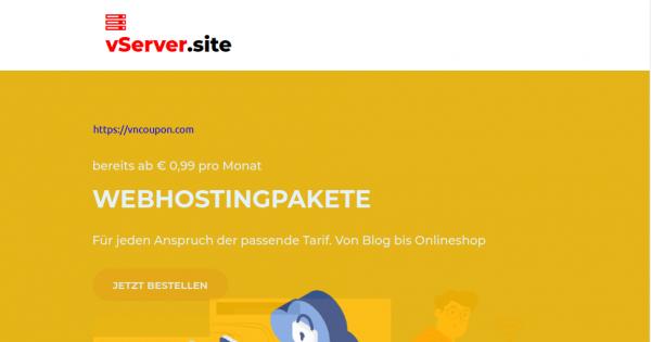 [Pre-Black Friday 2020] vServer.site – KVM VPS Special from €12/Year