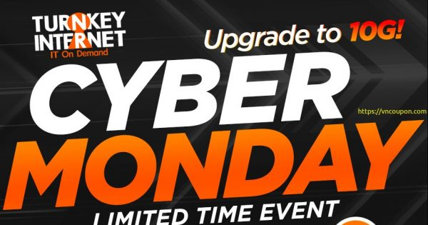TurnKey Internet Extend Black Friday / Cyber Monday Deals – 10Gbps Dedicated Servers @ $59/month (70% OFF)