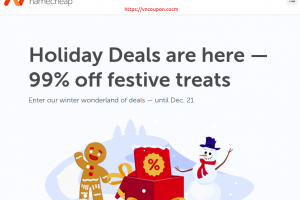 Namecheap Holiday Deals – Up to 99% Off Domain & Hosting
