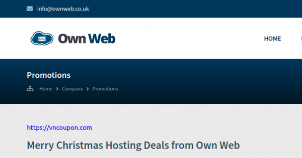 [Xmas 2020] Own Web – VPS & Dedicated Servers Promotions from $22/Year