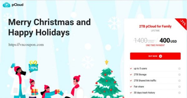 pCloud Holidays Deal – 70% Off Lifetime Cloud Storage from $400 One Time Payment
