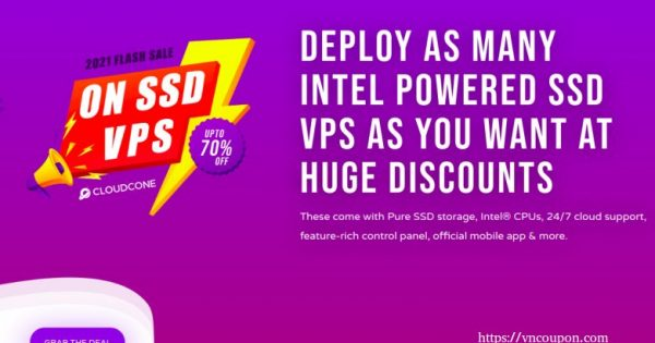 [Flash Yearly Offers] CloudCone Hourly Billed KVM Offers – Semi-Managed Cloud Servers from $1.99/Month