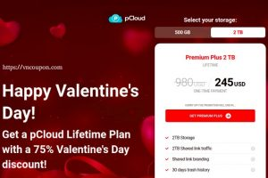 [Valentine Day 2021] pCloud – 75% discount Cloud Storage Lifetime Plan