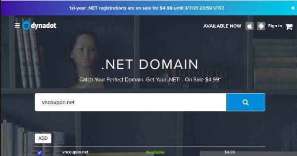 Dynadot – 1st-year .NET Domain Registrations are on sale for $4.99