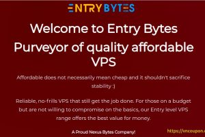 Entry Bytes – Purveyor of quality affordable VPS Offers from $3.75/month