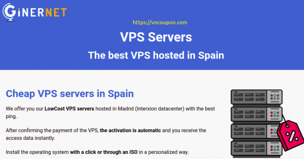 GinerNet –  VPS super offer only €30/year – 1GB RAM / NVMe Storage / 10 Gbps Network