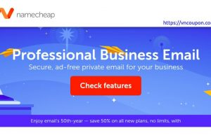 Namecheap – Save 50% OFF on Professional Business Email Plans